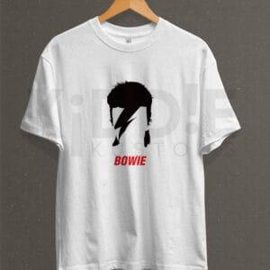 Remera Estampada Unisex Bowie – Blanca