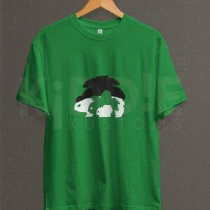 Remera Estampada Unisex Bulbasaur Evolution – Verde