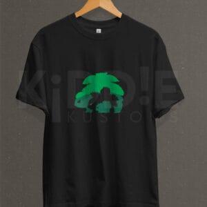 Remera Estampada Unisex Bulbasaur Evolution – Negra