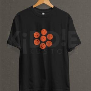 Remera Estampada Unisex Dragon Ball Spheres – Negra