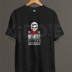 Remera Estampada Unisex Drift Infantry – Negra