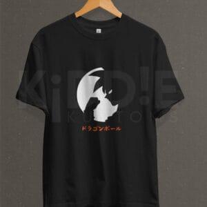 Remera Estampada Unisex Goku Let's Fight – Negra