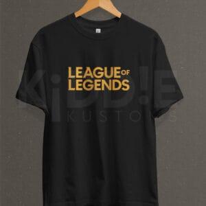 Remera Estampada Unisex League of Legends – Negra