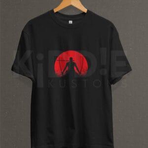 Remera Estampada Unisex Samurai – Negra