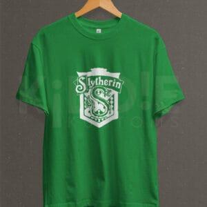 Remera Estampada Unisex Slytherin – Verde