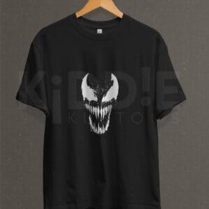 Remera Estampada Unisex Venom – Negra
