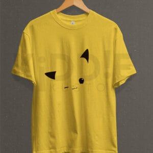 Remera Estampada Unisex Pikachu Face – Amarilla