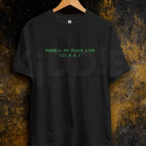 Remera Estampada Unisex There is no place like 127.0.0.1 – Negra
