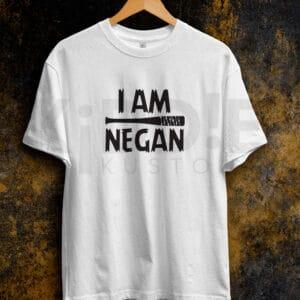 Remera Estampada Unisex I am Negan – Blanca