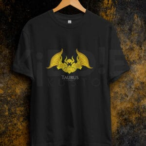Remera Estampada Unisex Saint Seiya Taurus – Negra