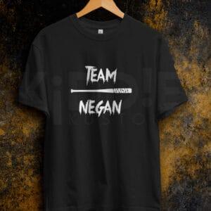 Remera Estampada Unisex Team Negan – Negra