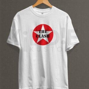 Remera Estampada Unisex The Clash – Blanca