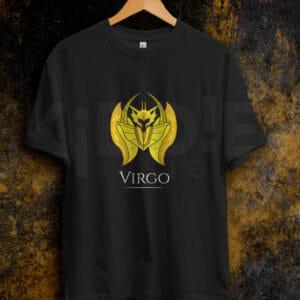 Remera Estampada Unisex Saint Seiya Virgo – Negra