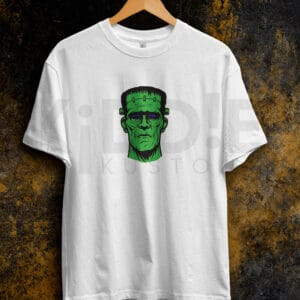 Remera Estampada Unisex Frankenstein – Blanca