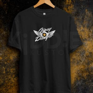 Remera Estampada Unisex Gipsy Danger Logo – Negra