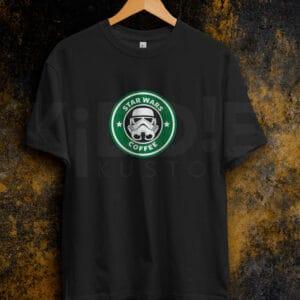 Remera Estampada Unisex Star Wars Coffee – Negra