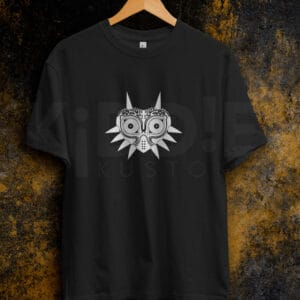 Remera Estampada Unisex Zelda Majora's Mask – Negra