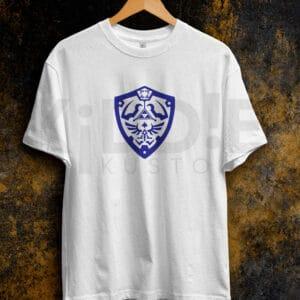 Remera Estampada Unisex Zelda Shield – Blanca