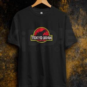 Remera Estampada Unisex Godzilla Jurassic – Negra