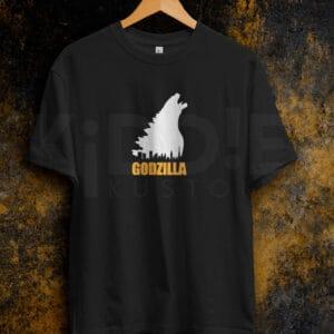 Remera Estampada Unisex Godzilla – Negra