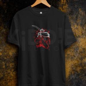 Remera Estampada Unisex Inuyasha Sword – Negra