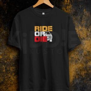 Remera Estampada Unisex Ride or Die II – Negra