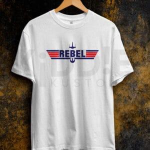 Remera Estampada Unisex Starwars Rebel – Blanca