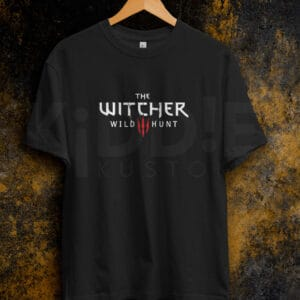 Remera Estampada Unisex The Witcher III – Negra