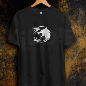 Remera Estampada Unisex The Witcher Symbols – Negra