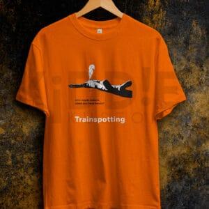 Remera Estampada Unisex Trainspotting Who Needs Reasons? – Naranja