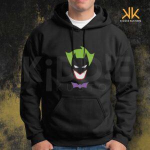 Buzo Estampado Hoodie Batman-Joker – Negro