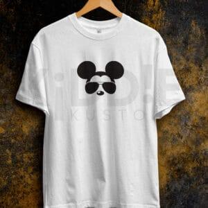 Remera Estampada Unisex Cool Mickey – Blanca