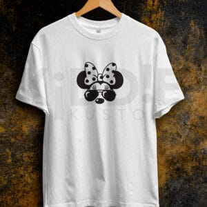 Remera Estampada Unisex Cool Minnie – Blanca
