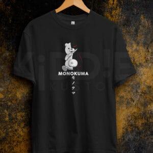 Remera Estampada Unisex Monokuma II – Negra