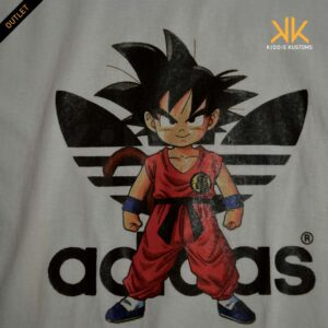 Remera Estampada Unisex Goku Adidxs *Outlet* – Blanca