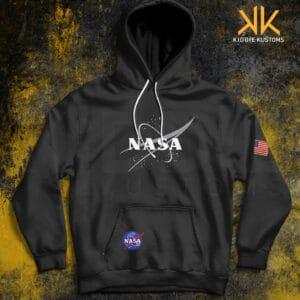 Buzo Estampado Hoodie NASA Black Logo *Special Edition* – Negro