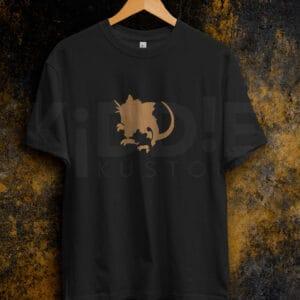 Remera Estampada Rattata Evolution – Negra