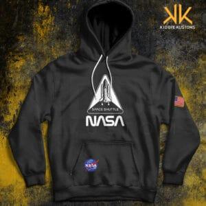 Buzo Estampado Hoodie NASA Space Shuttle *Special Edition* – Negro