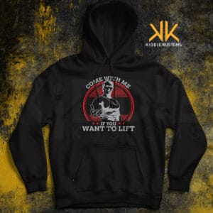 Buzo Estampado Come with me if you want to lift – Negro