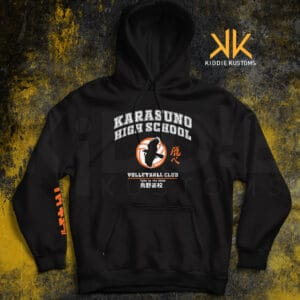 Buzo Estampado Karasuno Volleyball Club II – Negro