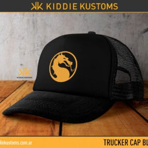 Trucker Cap Mortal Kombat Logo – Negra