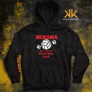 Buzo Estampado Nekoma Volleyball Club II – Negro