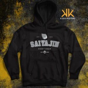 Buzo Estampado Saiyajin Fight Gear – Negro