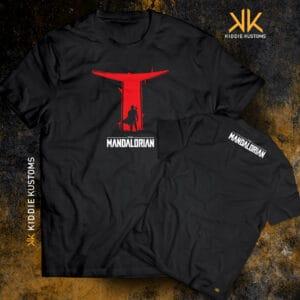 Remera Estampada Unisex The Mandalorian – Negra