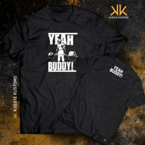 "Remera Estampada Unisex Ronnie Coleman ""Yeah Buddy!"" – Negra"