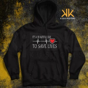 Buzo Estampado It's a Beautiful Day to Save Lives – Negro