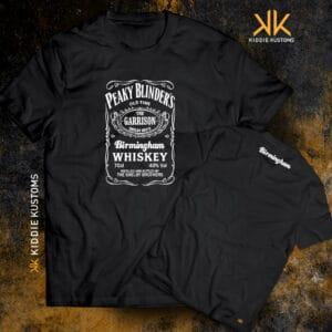 Remera Estampada Unisex Peaky Blinders Whiskey – Negra