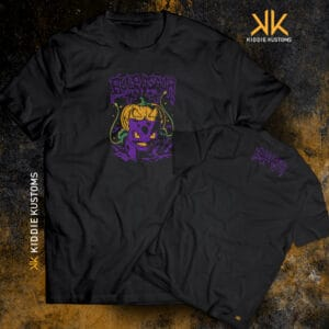Remera Estampada Unisex Halloween Bulbasaur – Negra