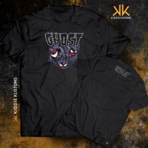Remera Estampada Unisex Ghost Type! – Negra