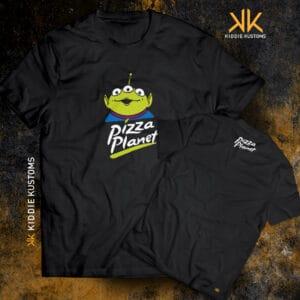 Remera Estampada Unisex Pizza Planet – Negra